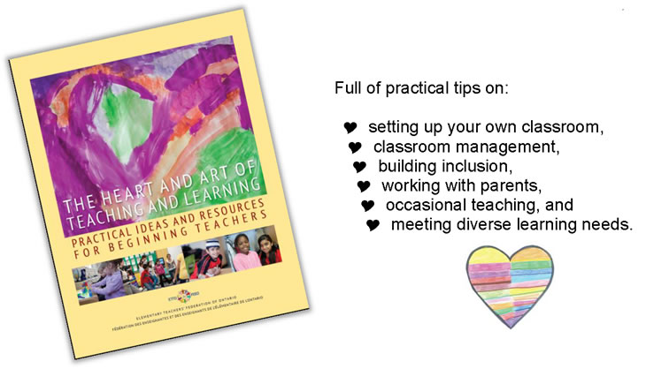 The Heart and Art - Practical tips on: setting up your classroom, classroom management, building inclusion, working with parents, occasional teaching, meeting diverse learning needs.