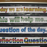 How I share learning goals and reflection questions with students each day