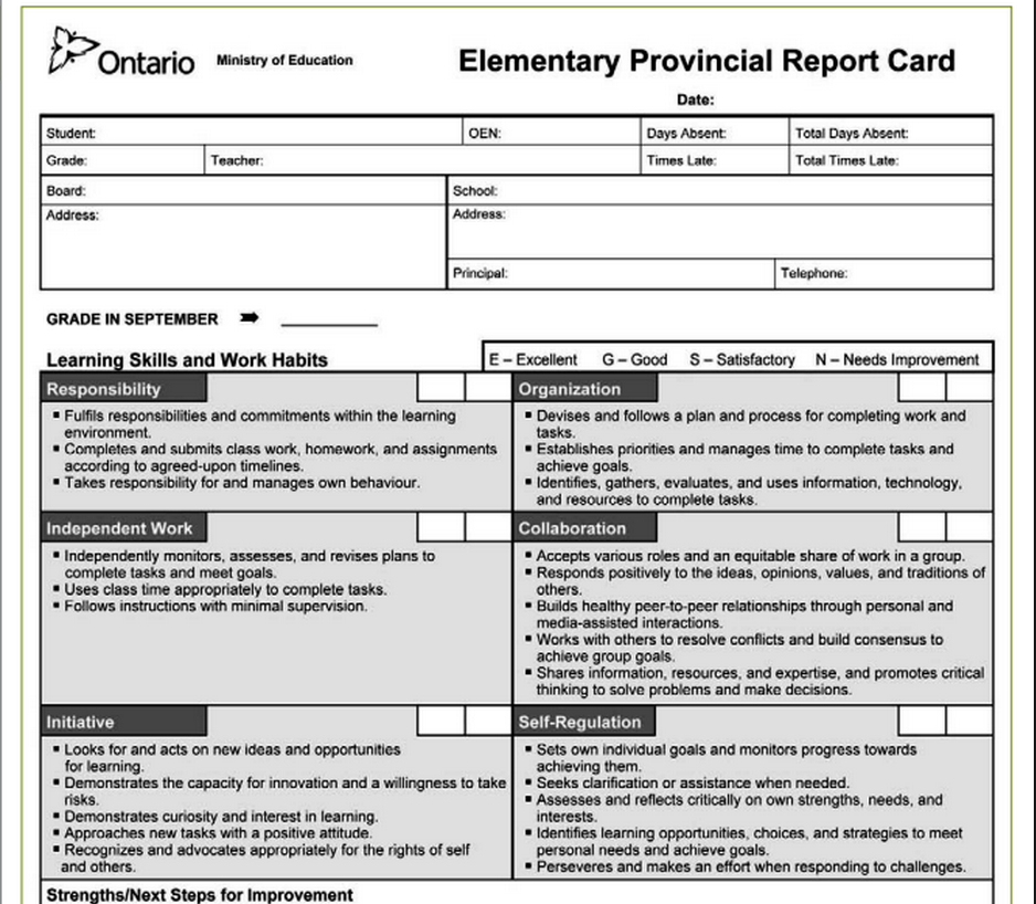 grade 8 report card  Reports Cards: Then (5) & Now (5) | The Heart and Art ...