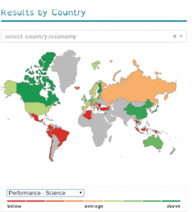 PISA 2015 results by country Science
